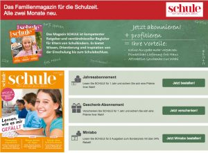 Abo-Angebote Magazin SCHULE
