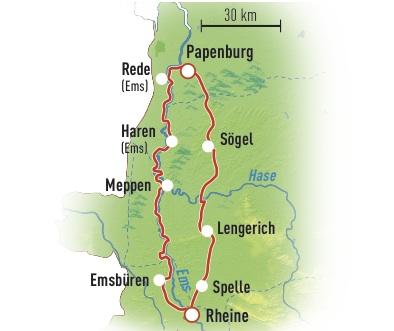 Emsland Karte.2016 6 Radwandern Emsland Karte Magazin Schule