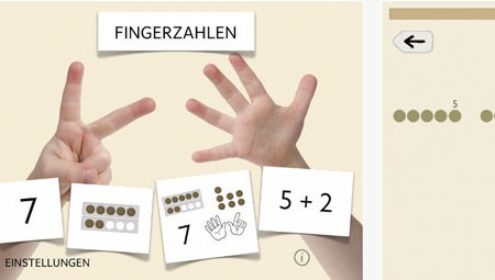 online lernen: Fingerzahlen / Apple-App / SCHULE Online