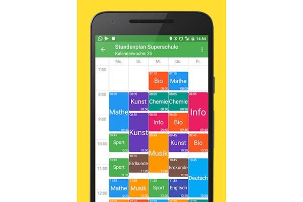Stundenplan deluxe - Sinnvolle Apps für die Schule und Hausaufgaben
