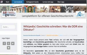 SeGu – DDR auf Wikipedia – Magazin SCHULE