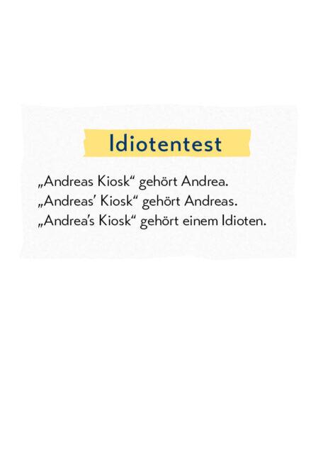 Lustige Grammatik – Andrea's Kiosk