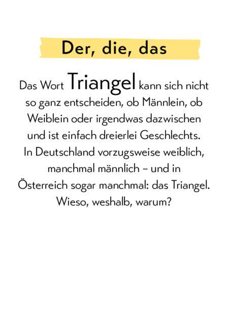 Lustige Grammatik - Triangel