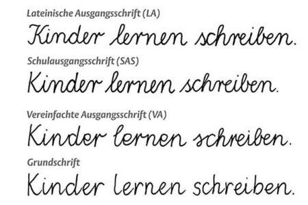 Ausgangsschriften in Deutschland