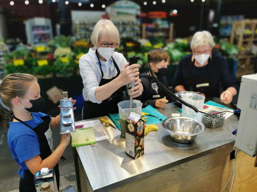 Die Küchenpartie mit peb unterwegs: Kochaktion in der Markthalle Neun, Berlin